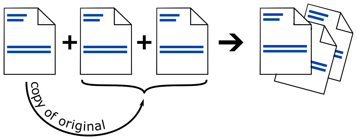Duplicate or triplicate pages