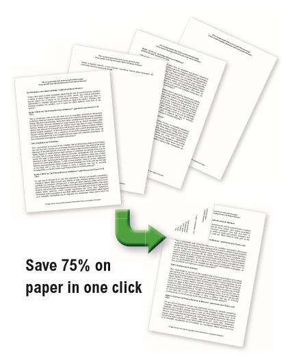 Save paper in one click